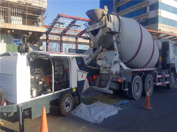 diesel concrete pump working in the Philippines