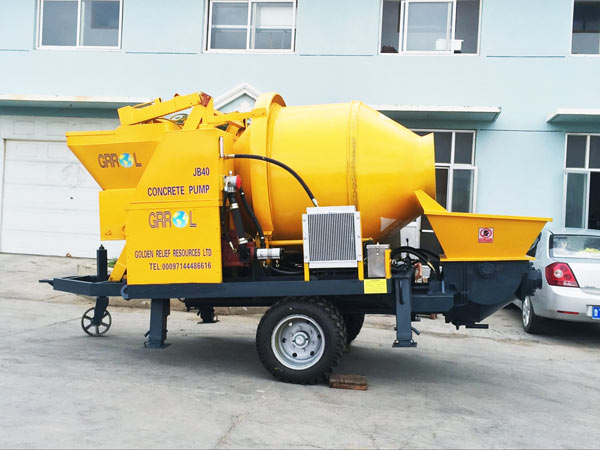 ABJZ40D concrete mixer with pump