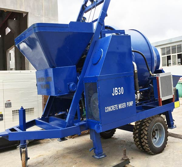 ABJZ30D concrete pump with mixer