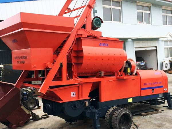JBS40-JS750 concrete pump with mixer