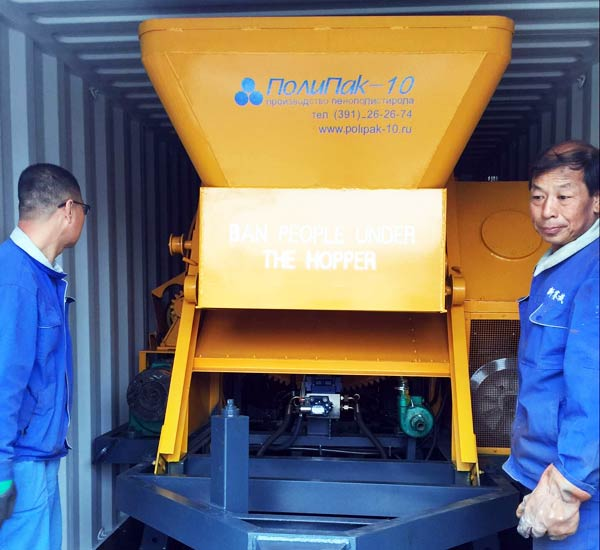concrete mixer pump shipped to Russia