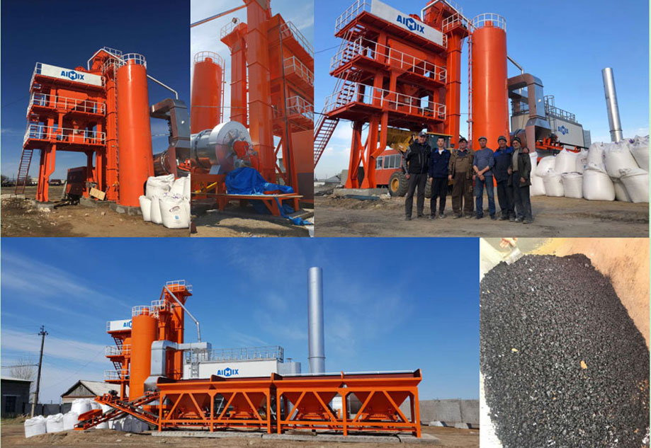 Hot asphalt plant in Russia