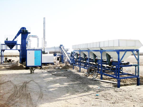 continuous drum mixing plant