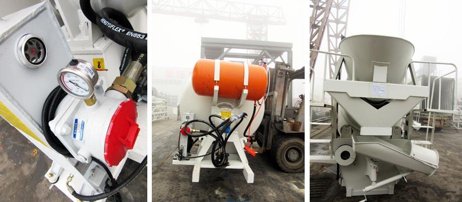 details of concrete truck mixer