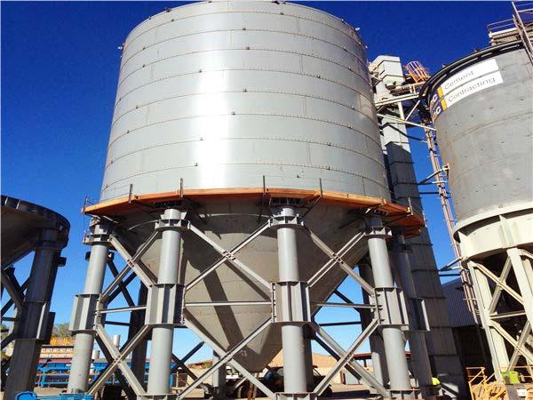 1400 T cement silo