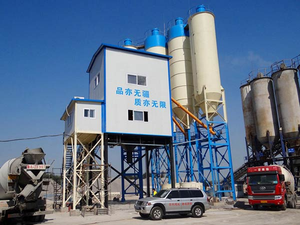 AJ120 stationary ready mix concrete batching plant