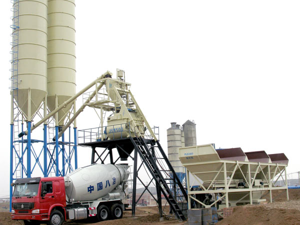 HZS75 ready mix concrete batching plant