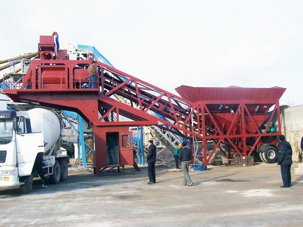 YHZS50 ready mix mobile concrete batching plant