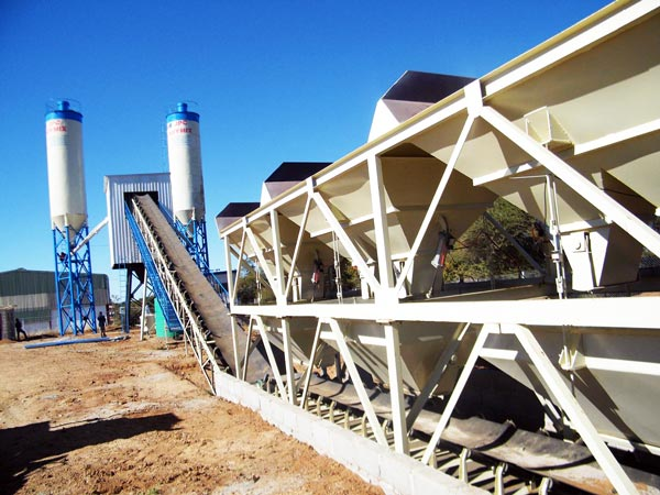 belt-type of concrete batching plant for sale