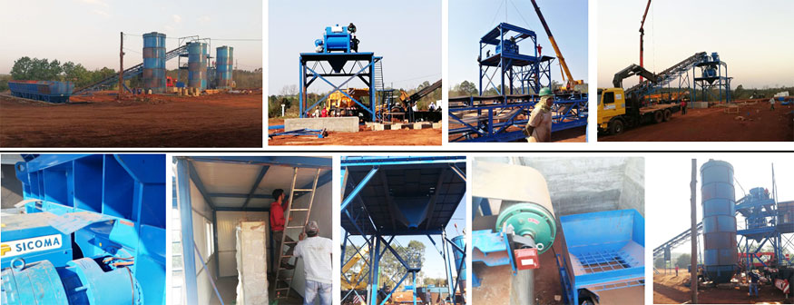installation of concrete batching plant for sale