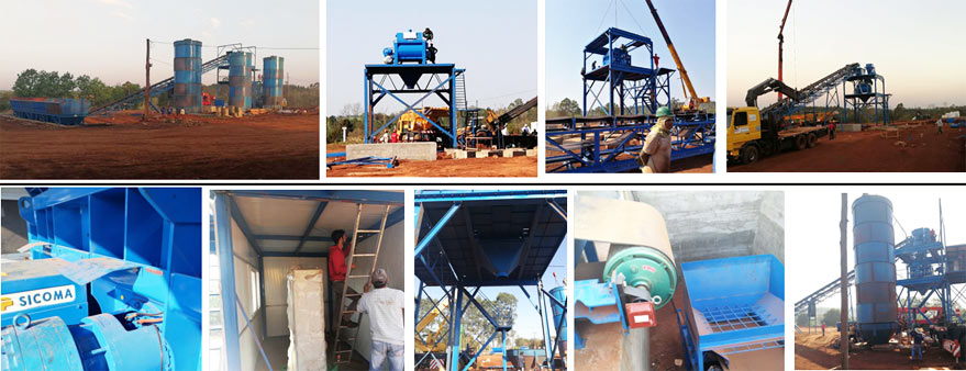 installation of ready mix concrete batching plant
