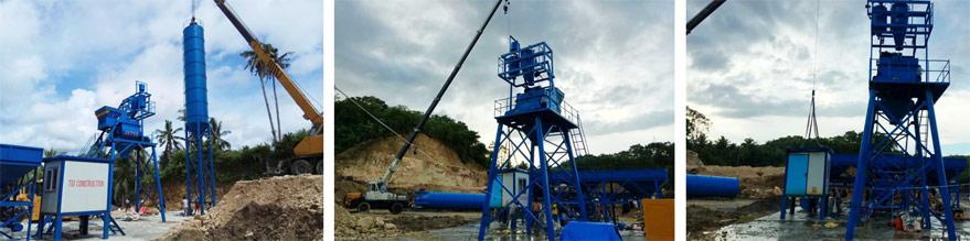 ready mix concrete batching plant sent to Malaysia