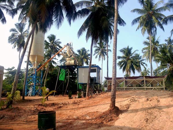 HZS 25 mini concrete batching plant