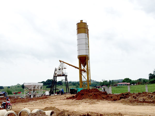 AJ 35 mini concrete batching plant