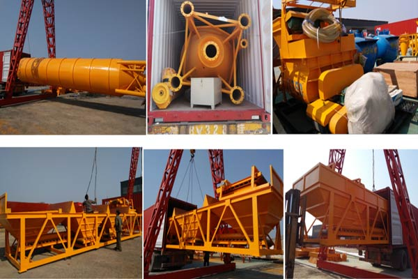 delivering mini concrete plant to Philippines