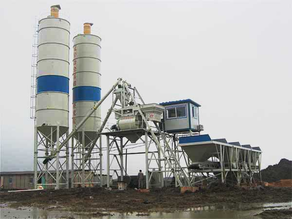 HZS 35 mini concrete batching plant