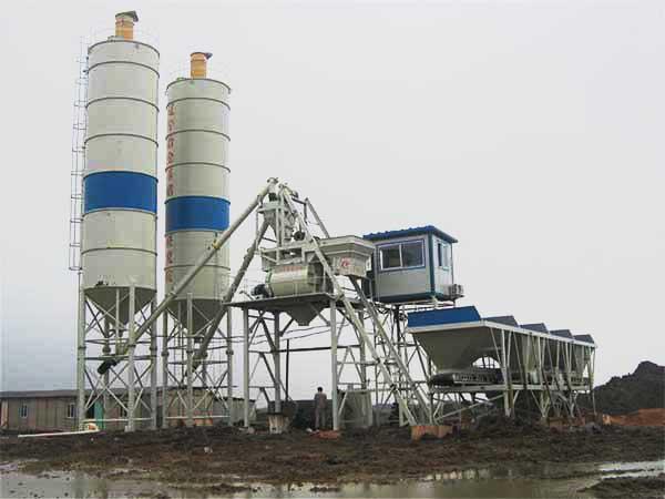 HZS 35 mini concrete batching plant