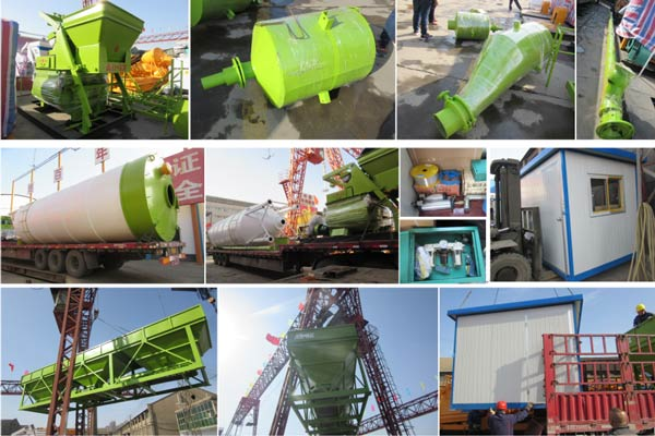 mini concrete batching plant was sent to Laos