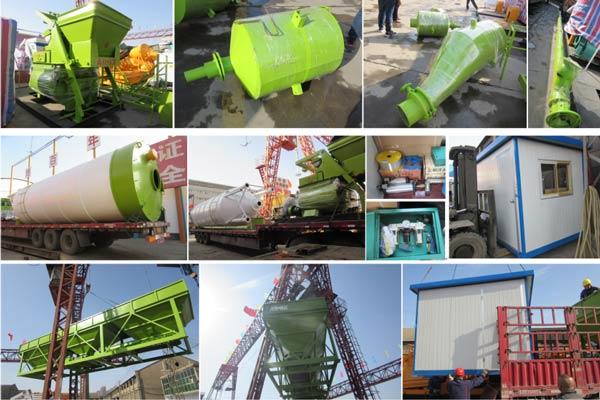 mini concrete batching plant was sent to Laos