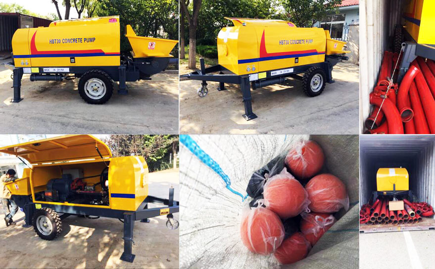 HBT30 trailer concrete pump sent to Kenya