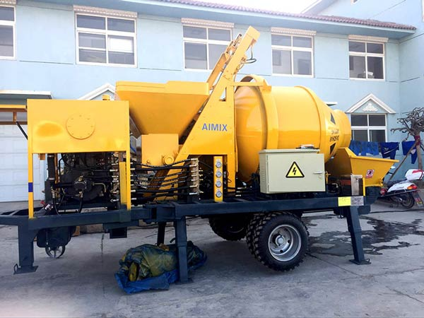 JB40R small diesel concrete mixer pump