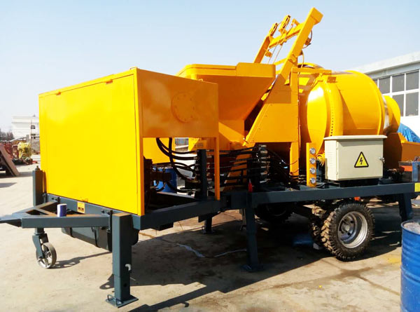 JBS30-JZC350 small electric concrete mixer pump