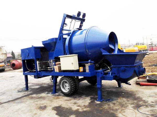 mobile concrete mixer pump