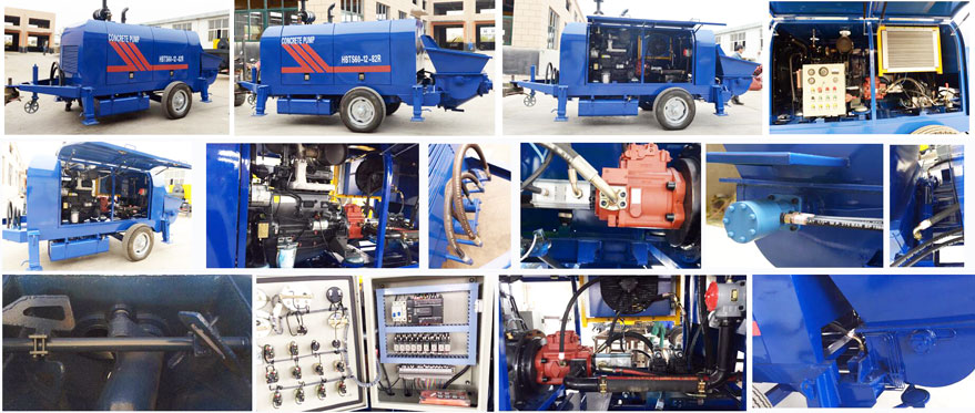all the details of trailer concrete pump