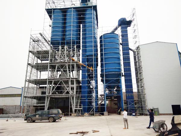 large tile adhesive mixing plant