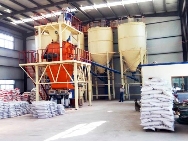 China dry mortar production line