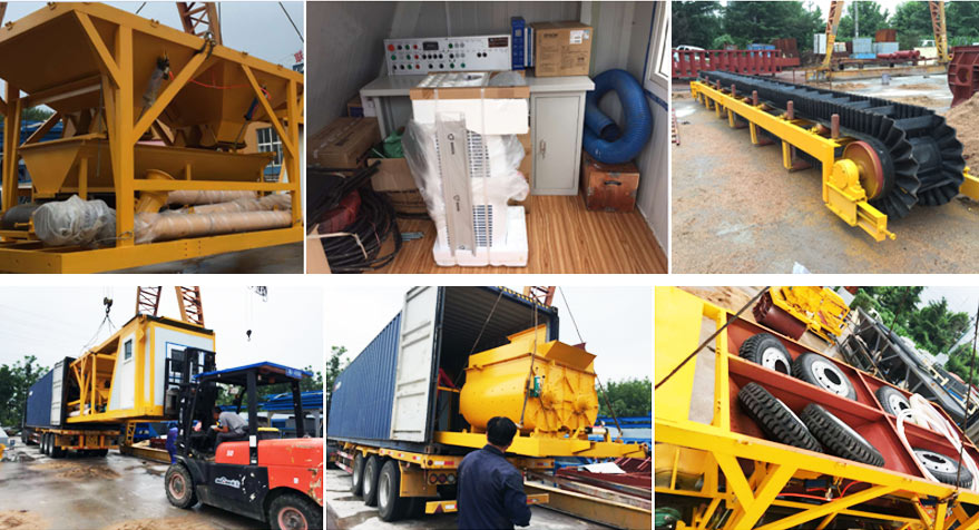 portable batching plant was exported to Indonesia