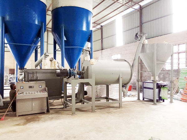 simple mortar production line