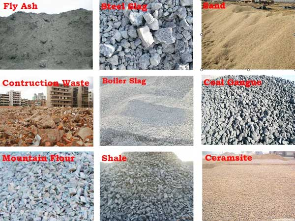 concrete block raw materials