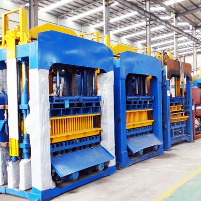 cement block making machine in factory