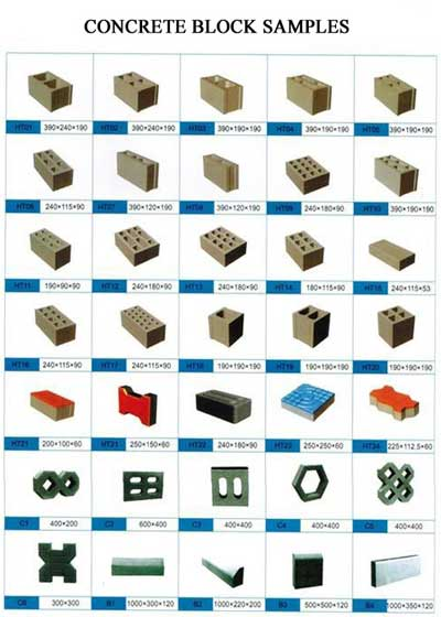 concrete block samples