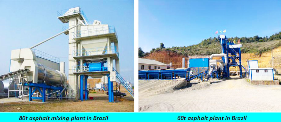 60t asphalt plants in Brazil