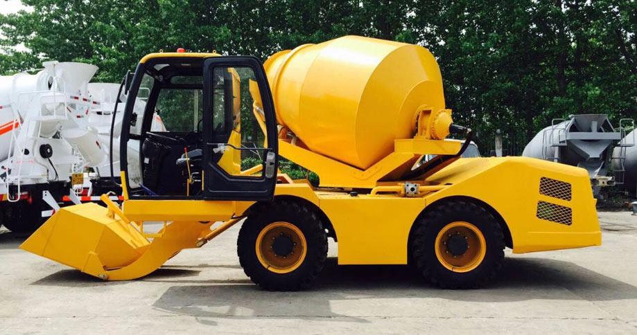 Aimix self loading concrete mixer truck