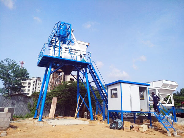 Concrete Mixing Plant in Sri Lanke Construction Site
