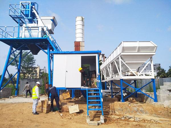 Installing concrete batching plant