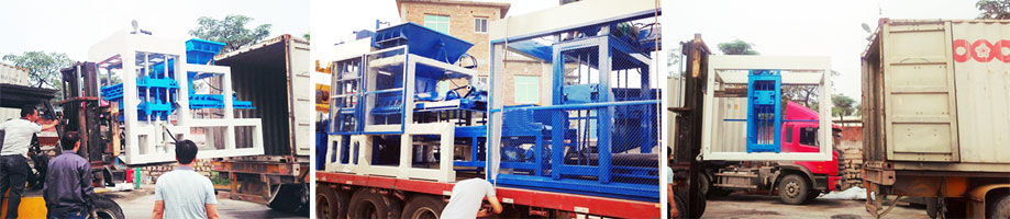 delivering automatic block machine to South Africa