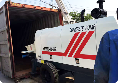 electric engine concrete pump to Uganda