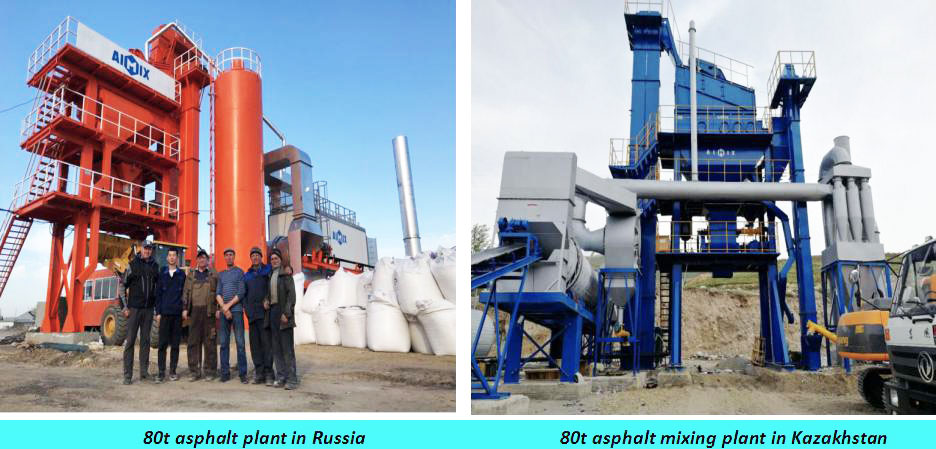 mini 80t asphalt plants at abroad