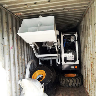 transporting Aimix self loading mixer