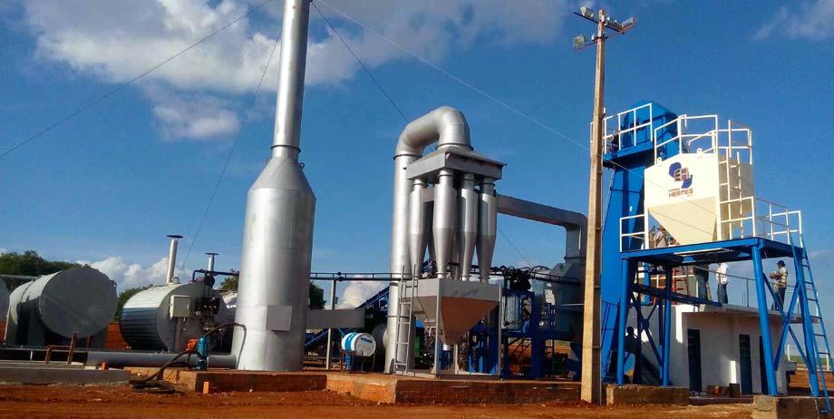 Portable Aspahtl Plant in Brazil