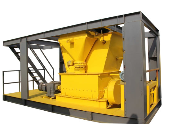 Twin shaft asphalt mixer