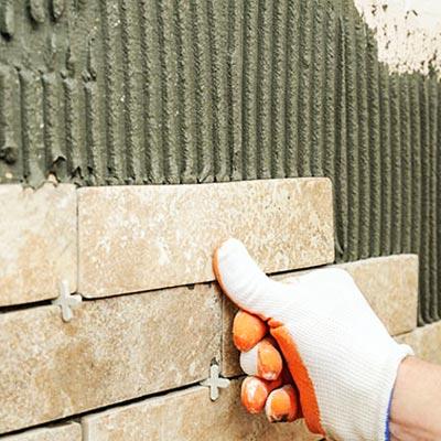 dry mortar using