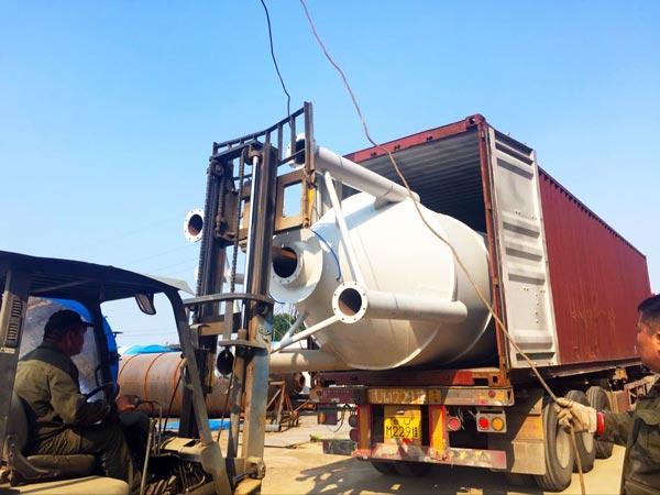 delivering dry mortar plant