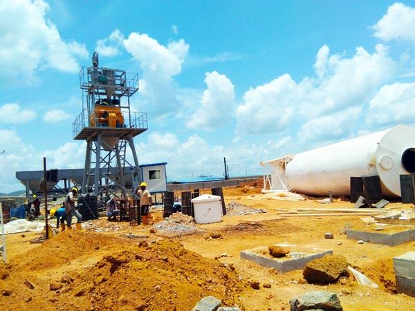 installing concrete plant in Sri Lanka