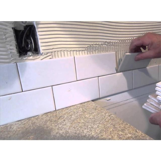 tile adhesive application