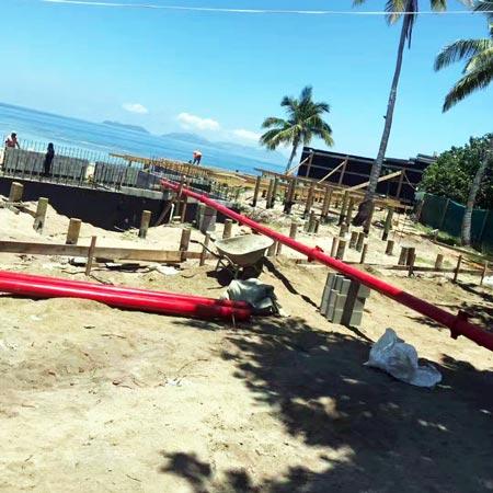 pumping concrete in Papua New Guinea